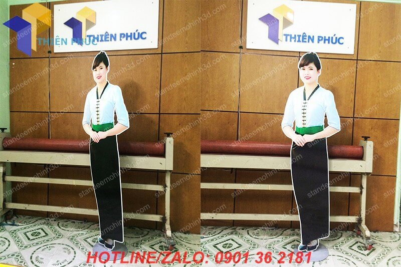 lam standee hinh nguoi